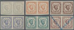 Montenegro: 1898. Prince Nicholas. New Values. 1n Grey-blue, 20 N Orange-brown, 30 N Brown-purple, 5 - Montenegro