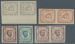 Montenegro: 1894 (10 Feb). Prince Nicholas. NEW VALUES. 1n Grey-blue, 20n Orange-brown, 30n Brown-pu - Montenegro