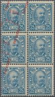 "Montenegro: 1905. Granting Of Constitution. Prince Nicholas 1902 Definitives Overprinted ""USTAV/ Nik - Montenegro"