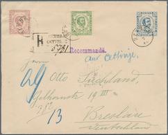 Montenegro - Ganzsachen: 1893. 10 N Blue (better Shade) Prince Nicholas Stationey Envelope 157x126 ( - Montenegro