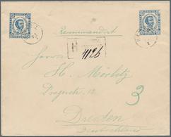 "Montenegro - Ganzsachen: 1893. 10 N Blue/white Prince Nicholas Stationery Envelope (""knife"" B, Type - Montenegro"