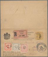 Montenegro - Ganzsachen: 1897. 2n Ochre/buff Prince Nicholas Double Stationery Card (head Type I, Pl - Montenegro