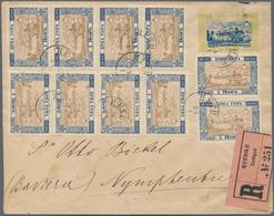 Montenegro - Ganzsachen: 1897. 10 N Yellow-green And Blue Stationery Envelope, Bicentenary Of Dynast - Montenegro
