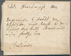 Niederlande - Vorphilatelie: 1645, DEN HAAG, Entire Lettersheet With Full Message Written In Latin A - Niederlande