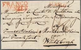 Niederlande - Vorphilatelie: 1820, Sealed Folded Letter With Two Liner FRANCO /GRENZEN And ALMELO (b - Niederlande