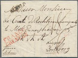 Niederlande - Vorphilatelie: 1822, Sealed Folded Letter With Black Postmark ALMELO (von Der Linden N - Niederlande