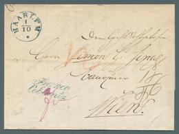 Niederlande - Vorphilatelie: 1848,Niederlande, HAARLEM, K1 Auf Kompl. Faltbrief Mit Blauem L2 FRANCO - Niederlande