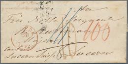 Niederlande - Vorphilatelie: 1852/1853, Two Folded Letter-sheets With Straight Line GINNEKEN, Each S - Niederlande