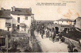 Millénaire De Cluny  910 - 1910  Cortège De L'Entrée De Louis IX à Cluny - Cluny