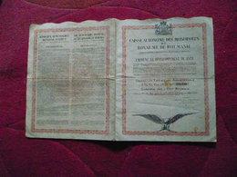 Royaume De Roumanie / Kingdom Of Romania : Loan / Emprunt  1931 . - Shareholdings