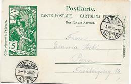 3 - 40 - Entier Postal UPU Avec Cachets à Date Bern 1900 - Postwaardestukken
