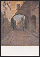 Anni 40 RODI - La Via Al Castello (Rodi) - Visioni Pittoriche Delle Isole Italiane Dell'Egeo Di LIDIO AJMONE C_1088 - Grecia