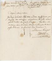 Bourglibre An 2- 24.1.1794 Douanes Lettre En Franchise - Marcophilie (Lettres)