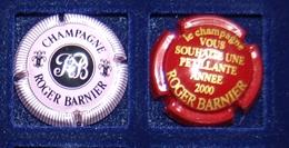 2 Plaque De Muselet De Champagne Barnier Roger Dont An 2000 - Autres