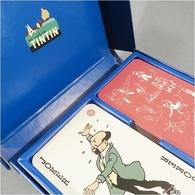 * JEUX DE CARTES EN VOITURE TINTIN - BD Hergé Milou - Toy Memorabilia