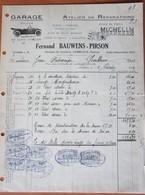 Lettre Garage Bauwens Pirson GEMBLOUX Cachets Pub Michelin 1924  Voiture Auto Wagen - Non Classés