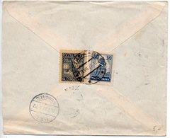 Pologne : N° 335 + 318 Sur Lettre Recommandée De 1927 - Lettres & Documents