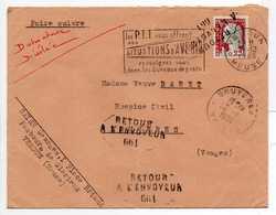 - Lettre VERDUN (Meuse) Pour BRUYERES (Vosges) 31.12.1963 - RETOUR A L'ENVOYEUR 661 - - Lettres & Documents