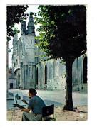 Cpm - 17 -  Ile De Ré - église Saint-Martin - 1970 - Artiste Peintre Chevalet - - Ile De Ré