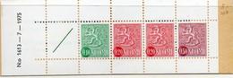 PIA - FINLANDIA  - 1975 : Carnet Di 1,00 Mk Con Francobolli Di Uso Corrente Leone Rampante  - (Yv C710 ) - Libretti