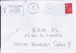 """55 - MEUSE - OBL. NEOPOST NAC  """"LA POSTE 21511A / 2008""""  M   (VERDUN) - Marcophilie (Lettres)"""