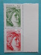 TIMBRE : VERSION De La SABINE De GANDON No: 5179 Et 5180 Bord De Feuil, Venant Du Feuillet F5179 ,XX Timbres En Bon état - 1977-81 Sabine Of Gandon