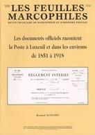 La Poste à Luxeuil Et Dans Les Environs De 1851 à 1918 - Philatélie Et Histoire Postale
