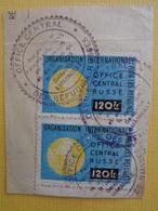 2 VIGNETTES SUR FRAGMENT A 120Frs - OEGANISATION INTERN. POUR LES REFUGIES RUSSES - Commemorative Labels