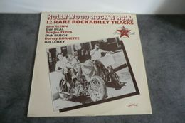Disque 33 Tours Hollywood Rock'n Roll - 12 Rare Rockabilly Tracks - Chiswick 940.554 - 1977 - Rock
