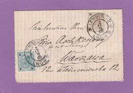 LEMBERG/LWOW(HEUTE UKRAINE) BRIEFKARTE NACH WARSCHAU. - 1850-1918 Imperium
