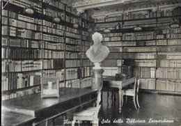 RECANATI - SALA DELLA BIBLIOTECA LEOPARDIANA - VIAGGIATA 1955 - Scrittori