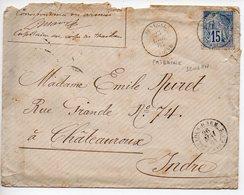 15c Alphée Dubois Sur Lettre De 1884 Oblitérée Rare Cachet 'Sénégal MEDINE' - Bureau Précurseur Du Soudan - En L'état - Alphée Dubois