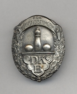 Bowling - German Bowling Alliance Badge - GEWIDMET Vom Deutschen Keglerbund, Original Box, With Pin, Serial Number 990 - Bowling