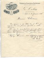 Lettre Photo 1916 / 77 MELUN / G. COLIN / Fabrique De Galoches Et Chaussures - France