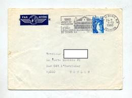 Lettre Flamme Saint Denis Reunion Annee Patrimoine - Postmark Collection (Covers)