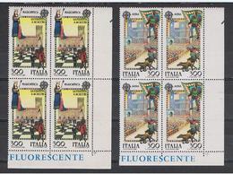 REPUBBLICA:  1981  EUROPA  CEPT  -  S. CPL. 2  VAL. BL. 4  N. -  SASS. 1551/52 - 1981