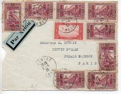 Algérie : Lettre Par Avion De 1938 Pour La France - Algeria (1924-1962)