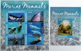 # Micronesia 2015** Sh,ss.1522. Marine Mammals , MNH [18;36] - Marine Mammals