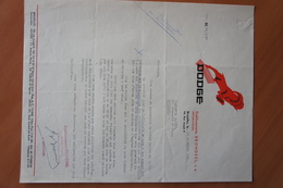 Lettre Automobile Dealer DODGE Bruxelles Vers Brasserie Bavery Couillet Camion Auto Voiture Car - Old Paper