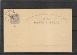 India Portuguesa 1898, Postal Stat. Cancelled Nova-Goa ,Centenario Da India,2 Scans (Ref 3027) - Portuguese India