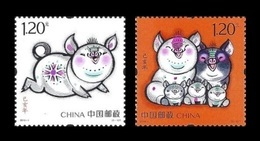 China 2019 Mih. 5070/71 Lunar New Year. Year Of The Pig MNH ** - 1949 - ... People's Republic