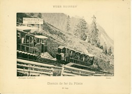 Vues Suisses Chemin De Fer Du Pilate  Phototypie S.A.D.A.G Cartonnée Format 18cm Sur 13cm - Suisse