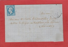 Paimpol - GC 2769 Sur N°22 - LAC 1866 Avec Bureau De Passe 3533 St Brieuc - Poststempel (Briefe)