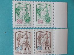 TIMBRE :MARIANNE De La JEUNESSE ,No:5234 Et 5235  ,surchargés 2013-2018,bord Blanc ,XX Timbres En Bon état - 2013-... Marianne Of Ciappa-Kawena