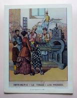 Extrait DOCUMENTATION PEDAGOGIQUE- IMPRIMERIE- LE TIRAGE - LES PRESSES - Le Progrès Des Techniques - Une Imprimerie 1887 - Métiers