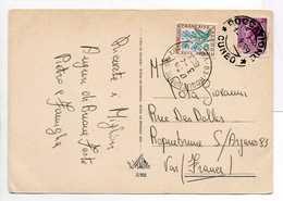 - Carte Postale ROCCAVIONE (Italie) Pour ROQUEBRUNE-SUR-ARGENS (Var) 1.4.1969 - TAXÉE 30 C. Fleurs Des Champs - - 1960-.... Storia Postale