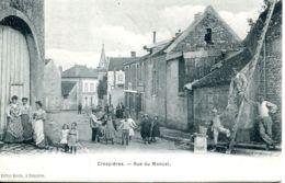N°73158 -cpa Crespières -rue Du Moncel- - Autres Communes