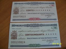IL BANCO DI SANTO SPIRITO - [10] Checks And Mini-checks