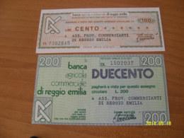 LA BANCA AGRICOLA COMMERCIALE Di REGGIO EMILIA - [10] Checks And Mini-checks