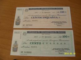 CASSA DI RISPARMIO DI JESI - [10] Checks And Mini-checks